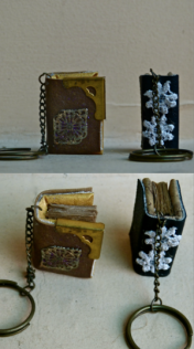 Leather Book Key Chain. 14,000 VND.